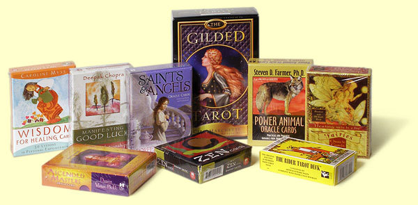 Tarot and Oracle decks