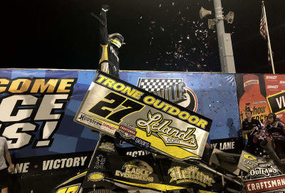 GREG HODNETT LEADS ALL 25 LAPS TO SCORE NIGHT ONE OF KNOXVILLE NATIONALS