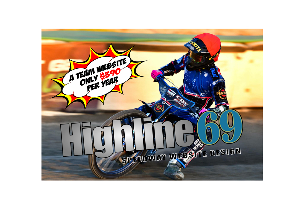 HIGHLINE69 SPEEDWAY WEB DESIGN RENEWS SPONSORSHIP FOR THE 2019/20 SEASON
