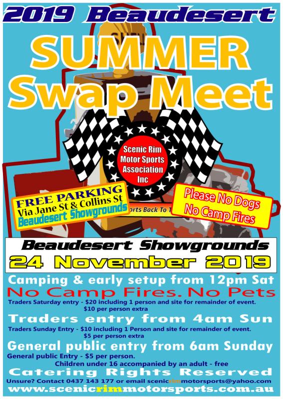 2019 Beaudesert Summer Swap Meet