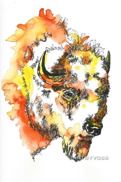 Orange Bison