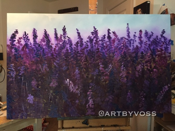Giant Lavender at Sunset