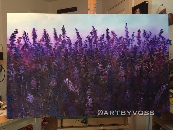 Giant Lavender at Sunset