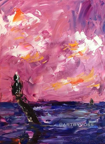Pink Sky and Pelican