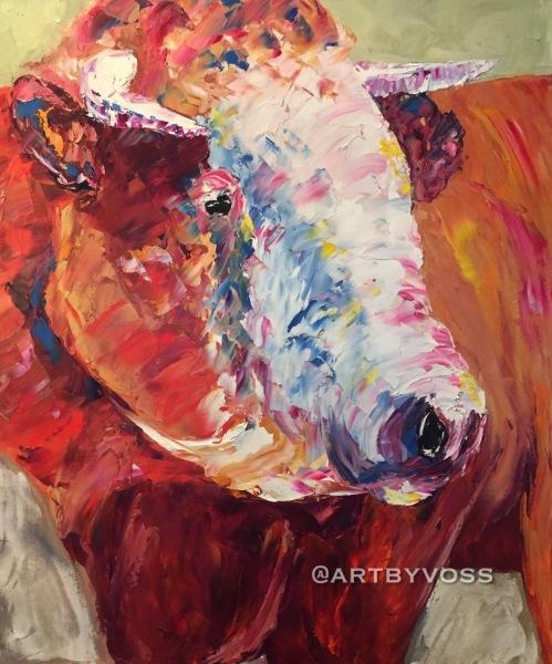 Bull by Knife