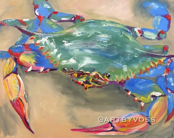 Blue Crab in Sand