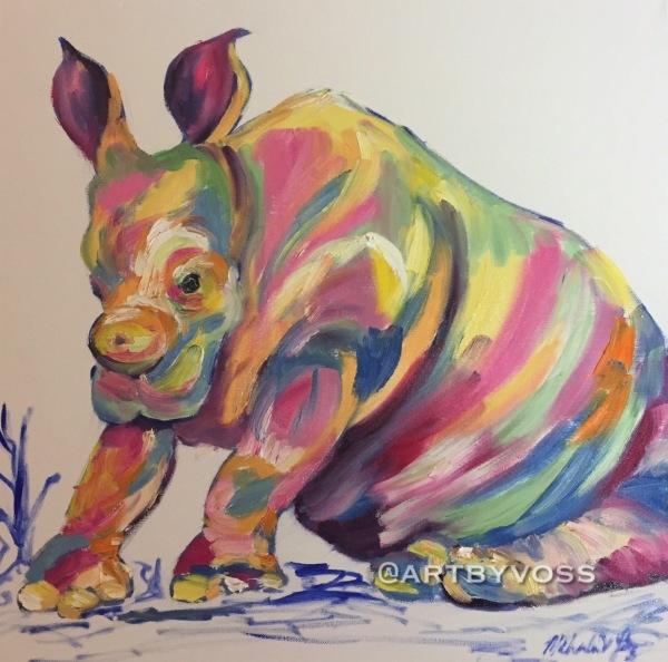 Pensive Rhino