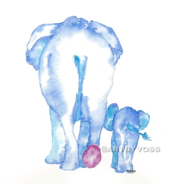 Blue Elephant Butts