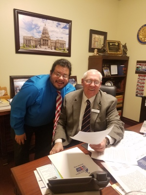 Senator Lee Heider from Idaho meets with Team Up Cancer