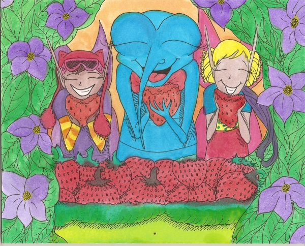 Tamia Saves the Day Illustration - Three Friends