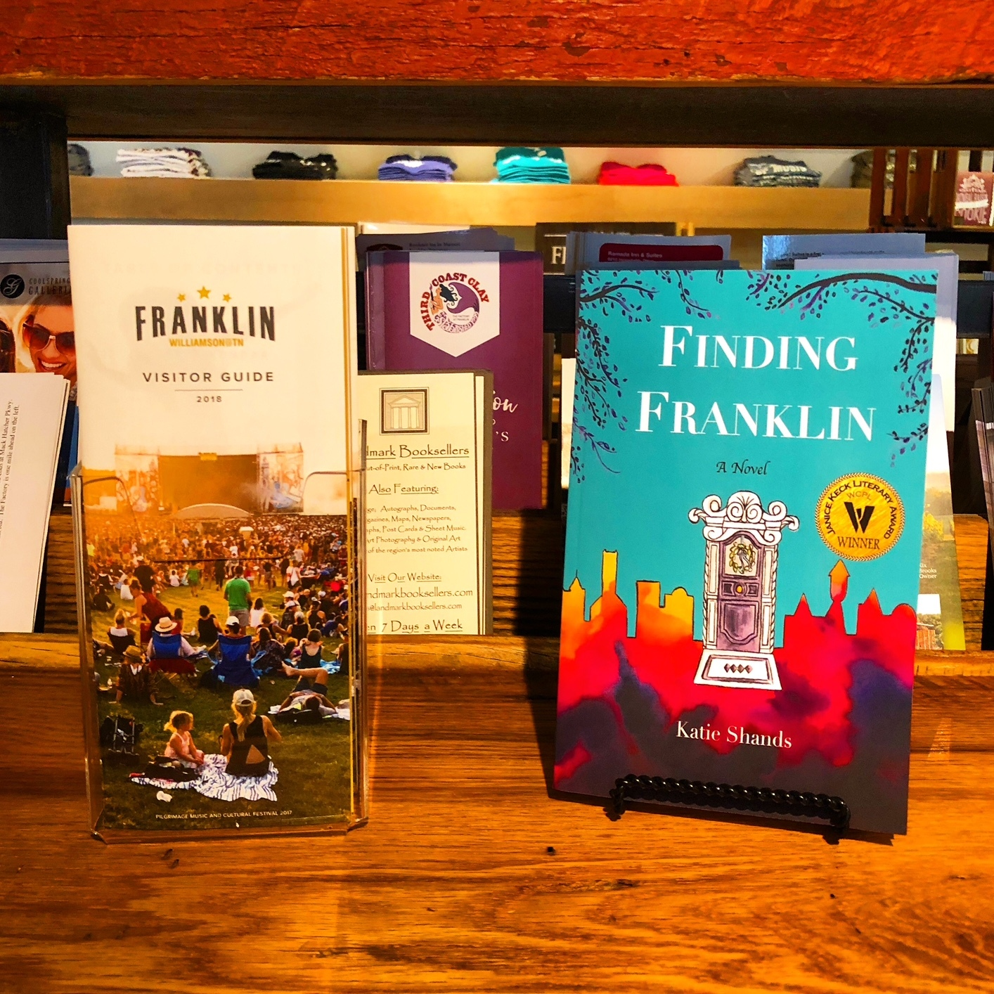 "A sample copy of ""Finding Franklin"" is now at the Visitor Center in downtown Franklin."