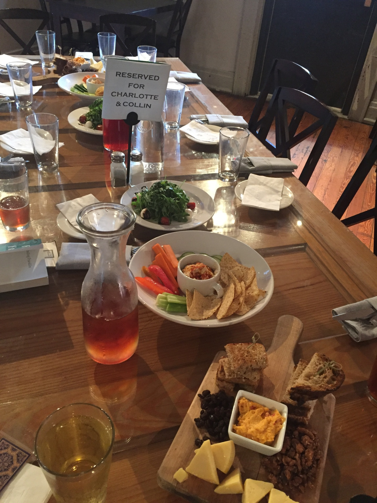Food at book club meeting