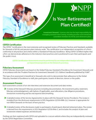 CEFEX Certification