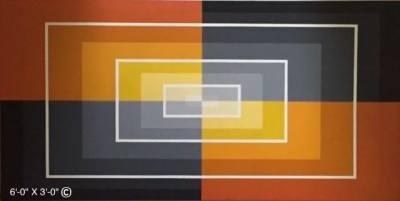 Black and Orange Concentric