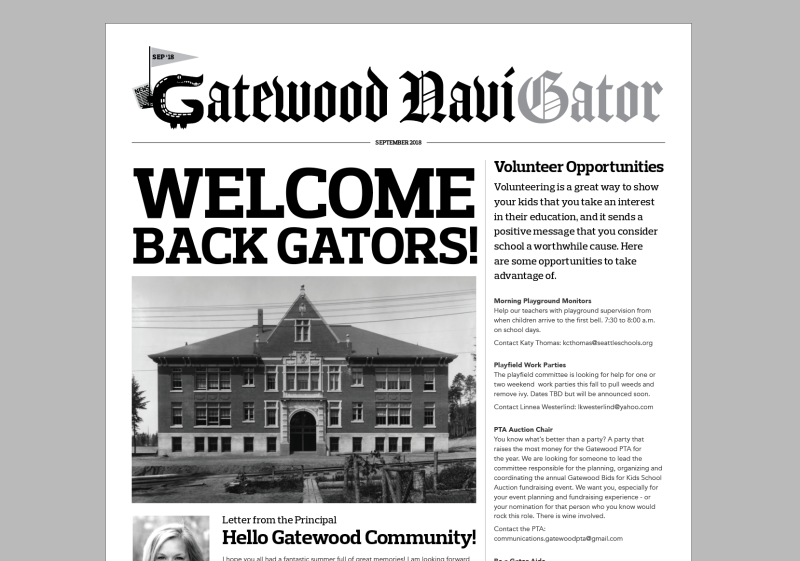 September NaviGator in Kid Mail this Week