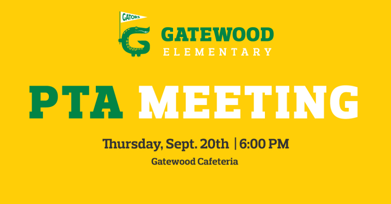 THURSDAY: First PTA Meeting of he School Year!