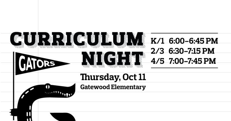 Thursday - Curriculum Night