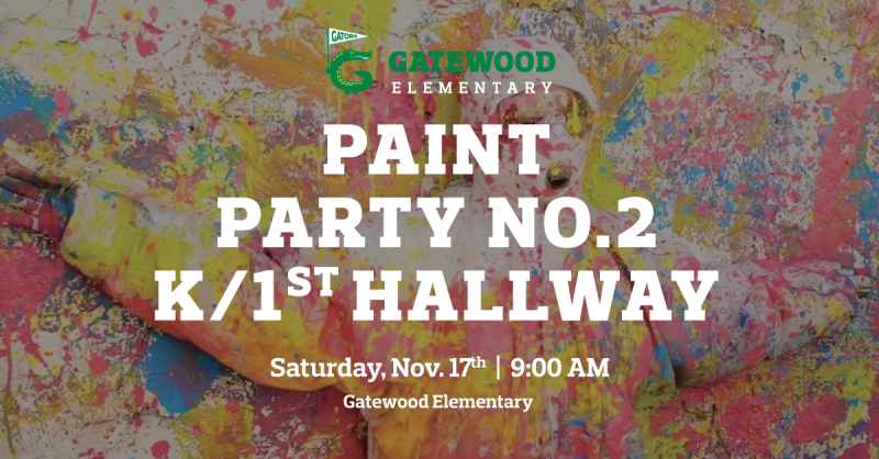 11/17 Volunteers Needed for Paint Party