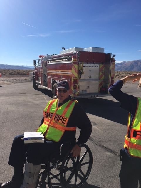 Our EVOC Course - Tom Spencer instructing the course from his wheelchair.