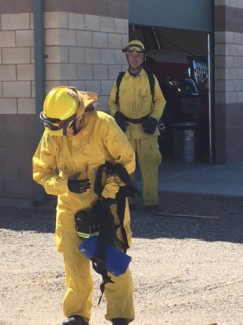 Wildland firefighting training