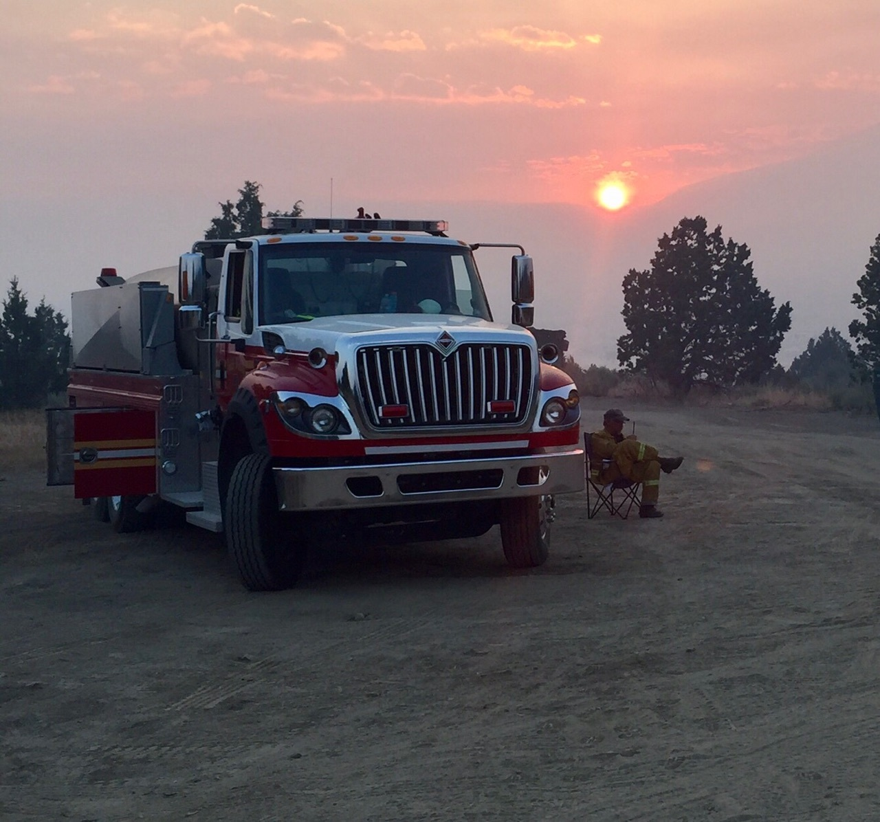 Brush 40 and crew providing mutual aid to East Fork Fire