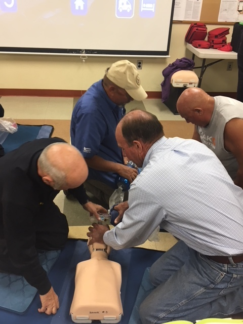 CPR Class for our volunteersn