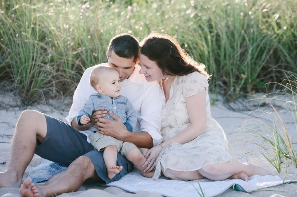 Kingsburg California photographer Cayton Heath and her family in a candid family portrait