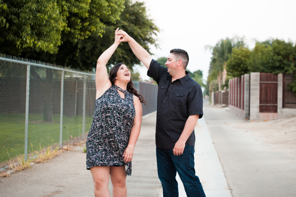 Kingsburg CA newly engaged couple dance by Cayton Heath Photography