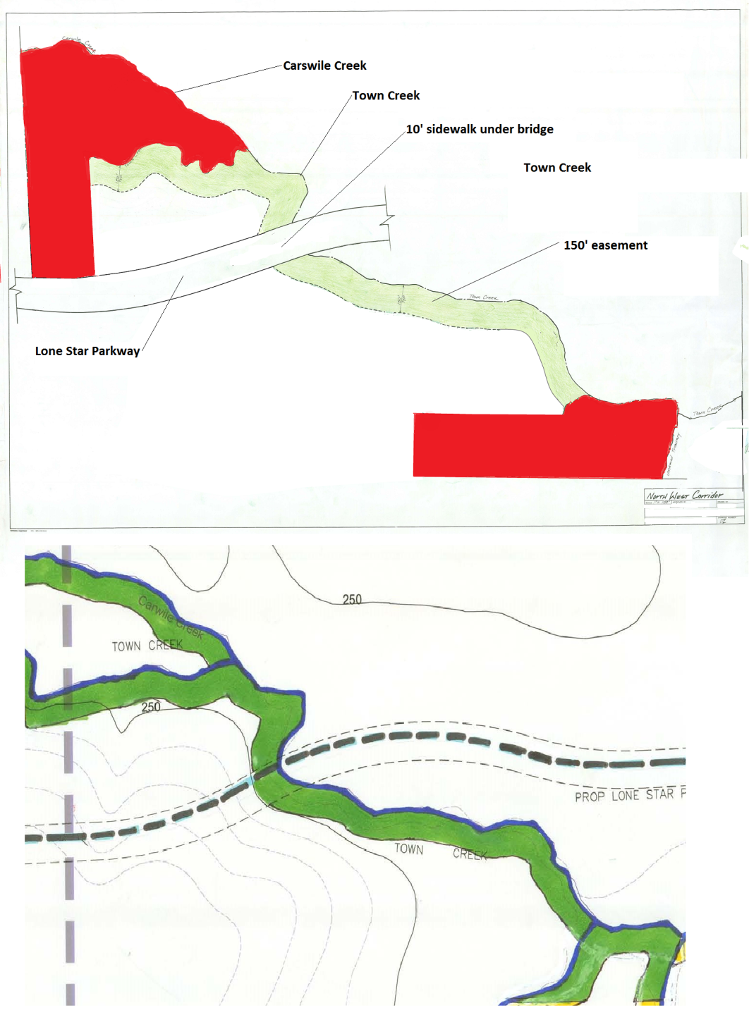 Town Creek Park, Montgomery, TX. Planned Development