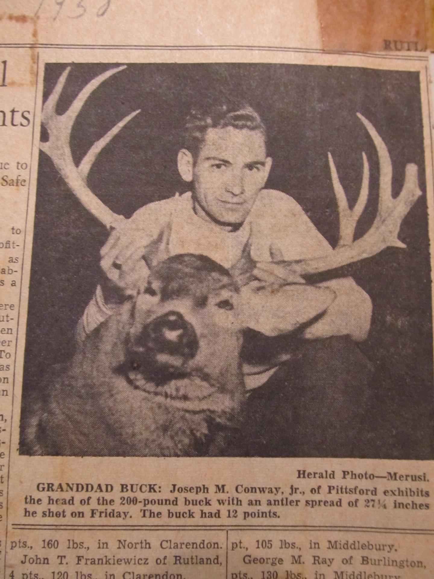 Big Antlers Heavy  Vermont Buck