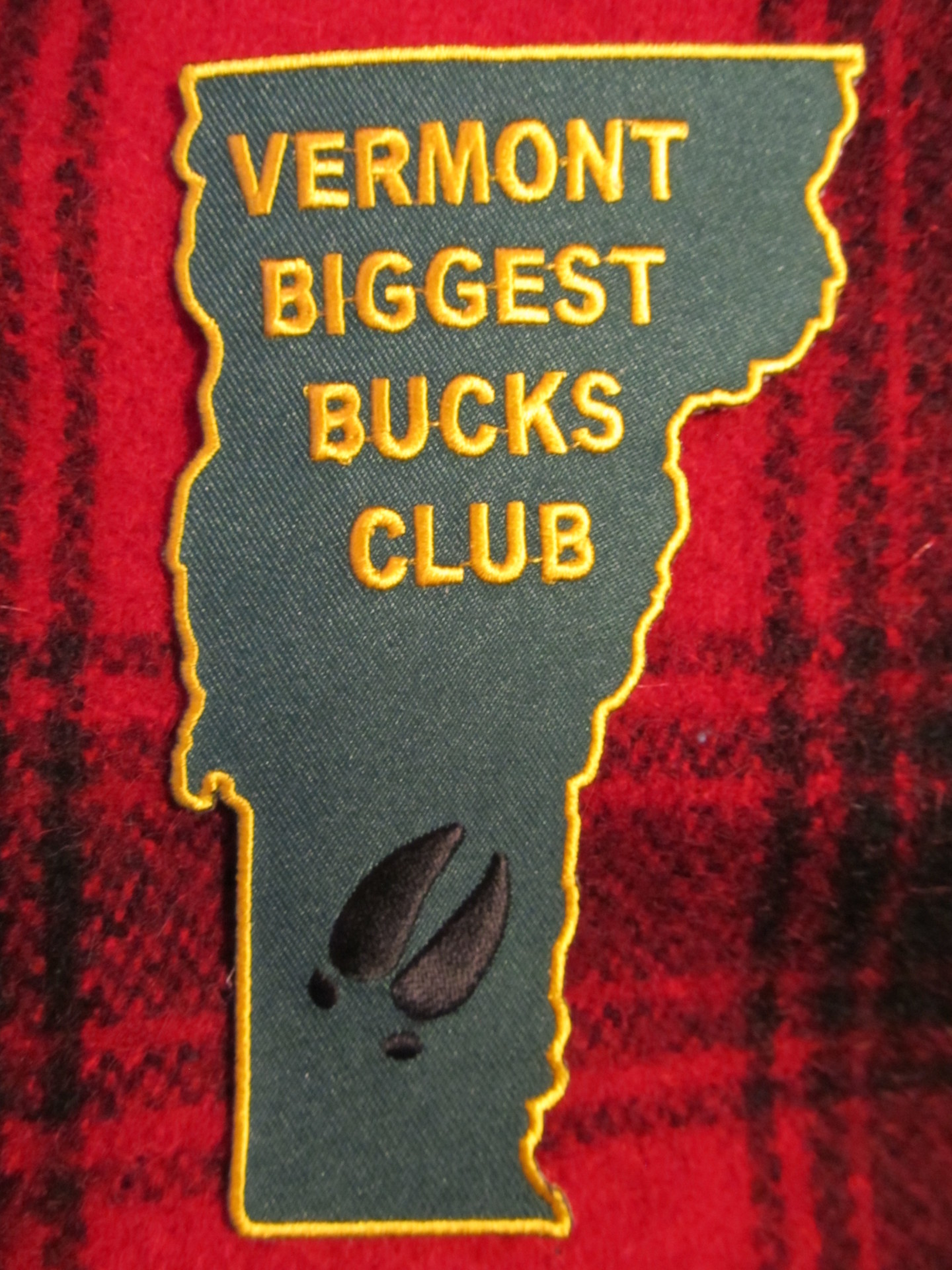 Vermont Biggest Bucks Club Patch