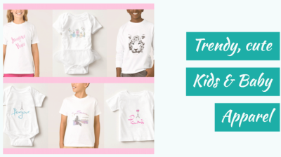 Cute customizable kids and babies clothing