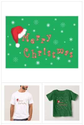 Merry Christmas T-shirts, Happy Holiday T-shirts