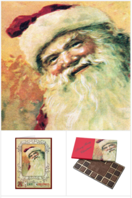Happy Santa Claus Cards, Santa Claus gifts