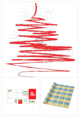 Modern Holiday Christmas Cards and Gifts