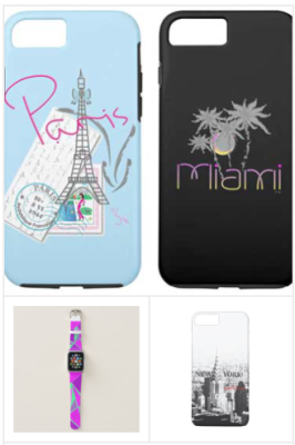 Paris iPhone covers, Miami phone covers, new york iPhone cases, custom designer apple watch bands