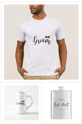 Cool Groom Bachelor Party Shirts, Elegant Groom Bier Stein with black bow, Bachelor Party gifts