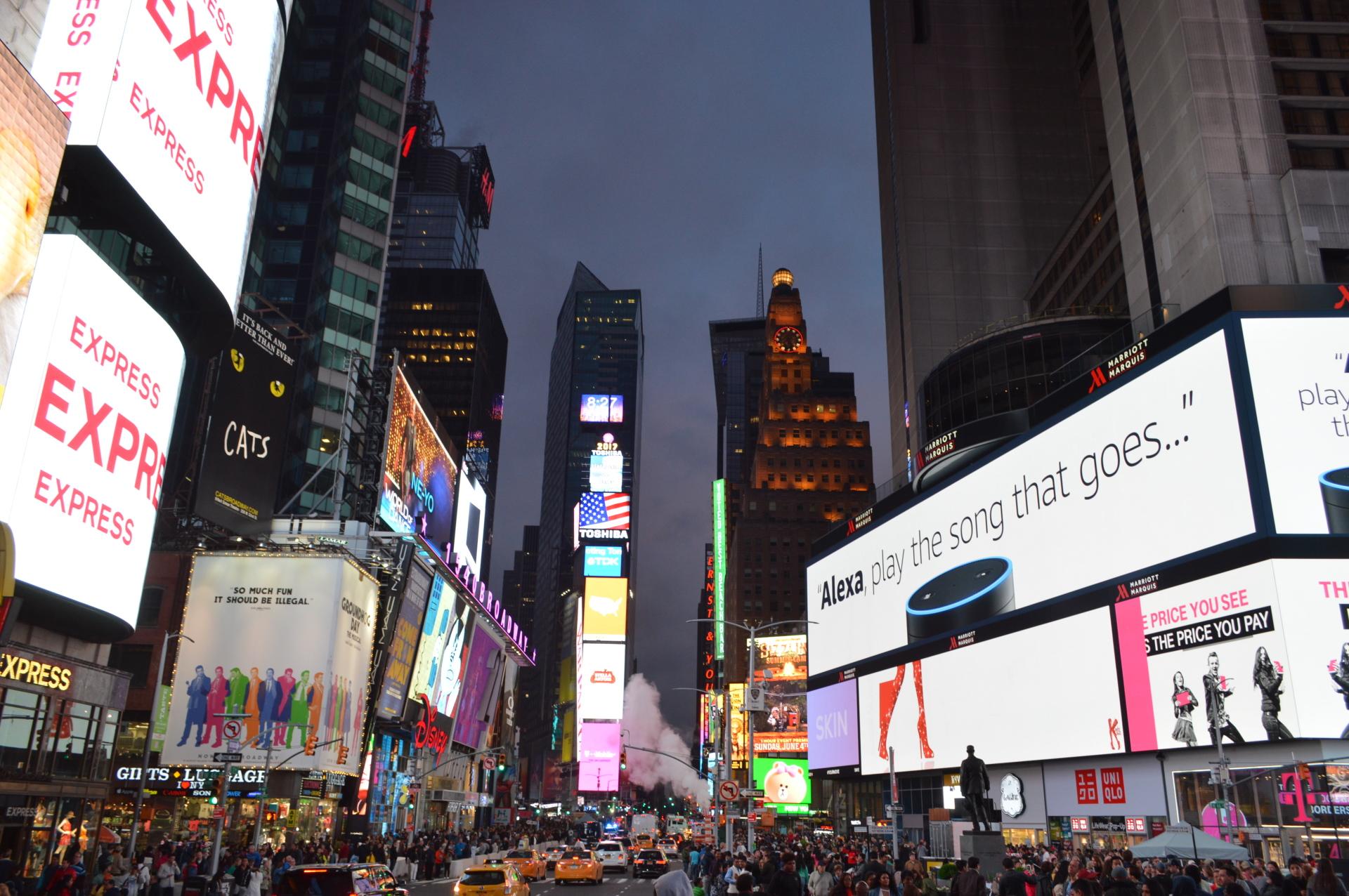 Visitando a Times Square