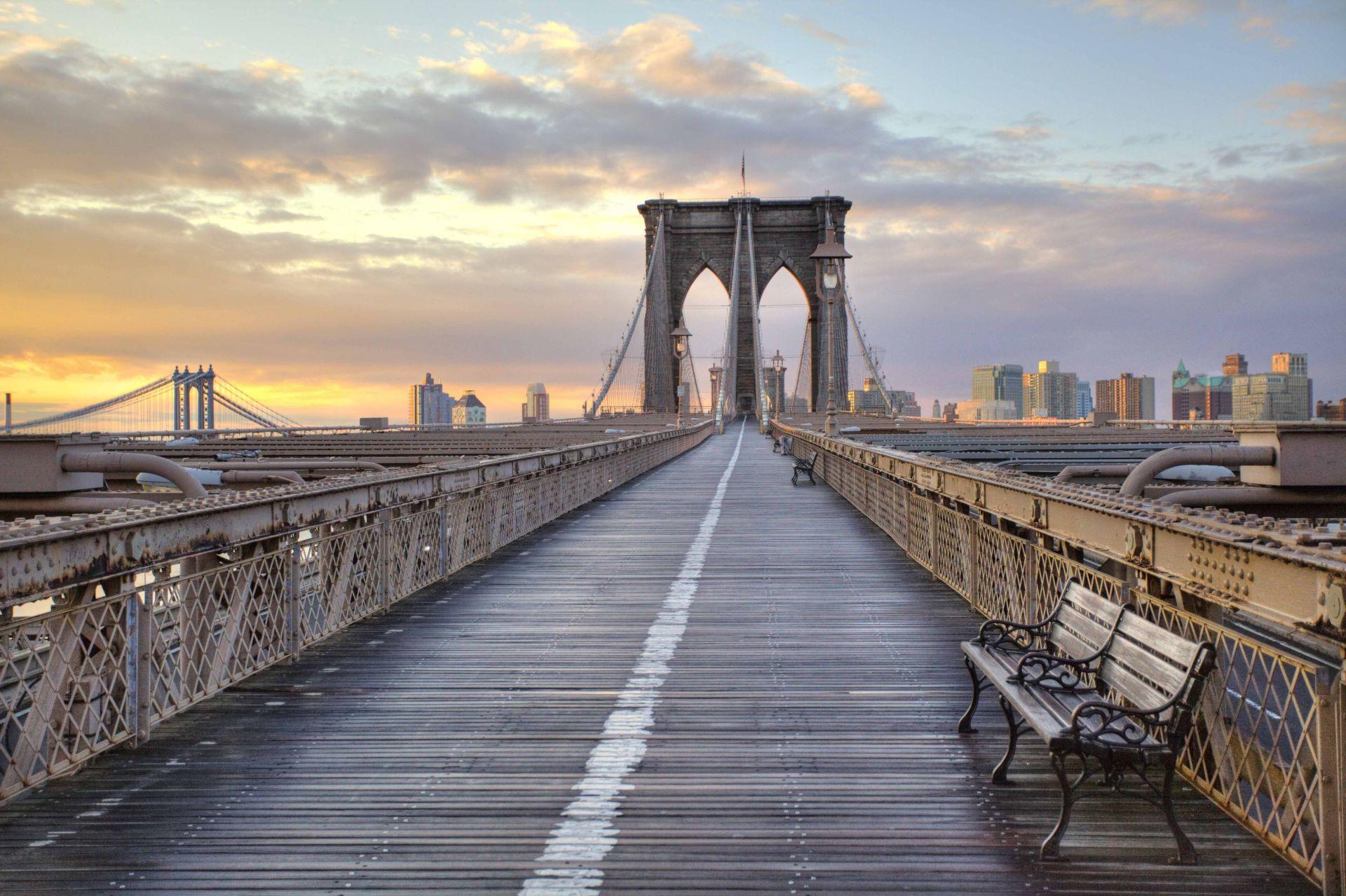 Passeando pela ponte do Brooklyn e bairro do Dumbo