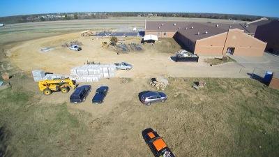 Drone camera footage