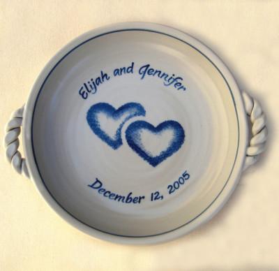 Twin Heart Pie Plate     $37.