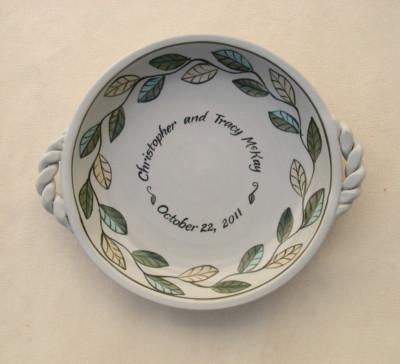 Multicolor Leaf Pie Plate     $38.