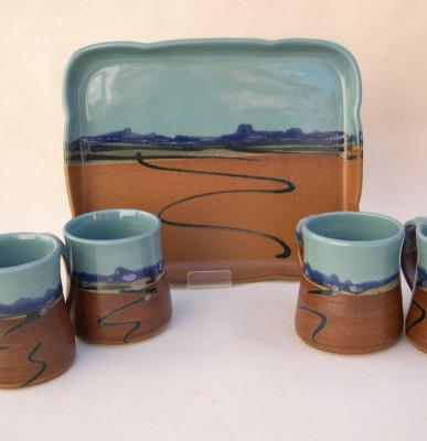 Yuma Tray & Mugs   $35, $17. ea