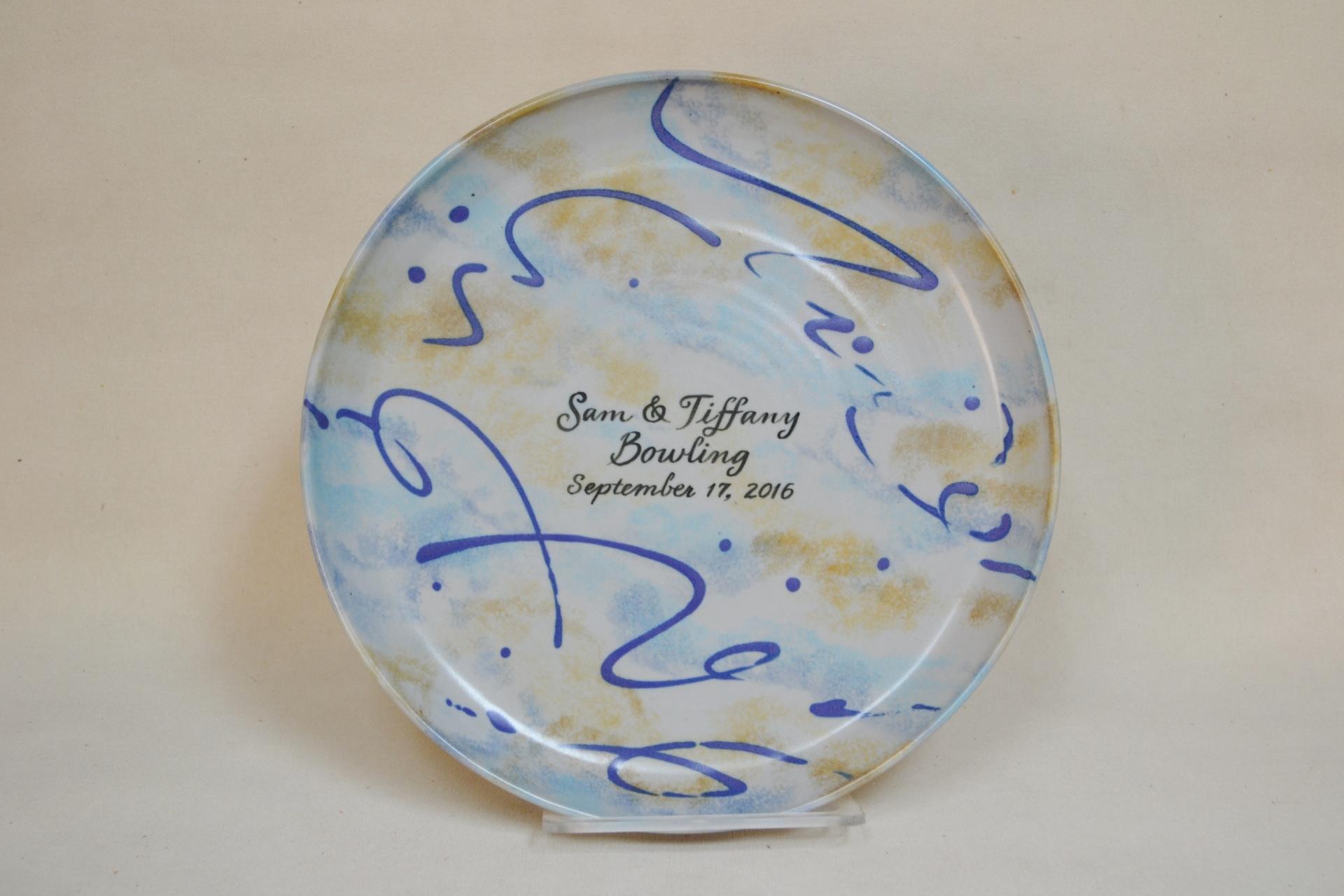 Purple Swirl Platter     $75.