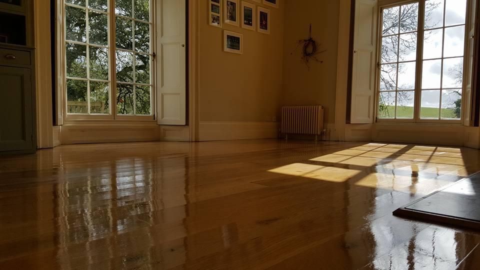 shiny clean wood floor