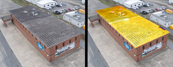Aerial Thermography | Flat Roof Systems