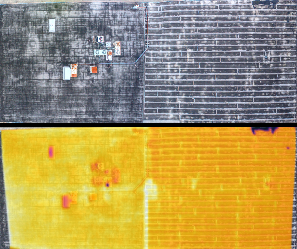 Aerial Thermography   Roof Inspection