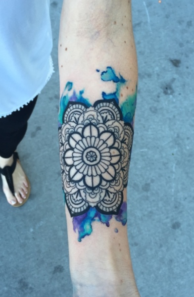watercolor tattoo mandala tattoos abstract equilattera ink best john graefe riverside oceanside temecula california body art