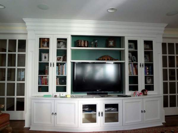 Custom Trim Entertainment Center