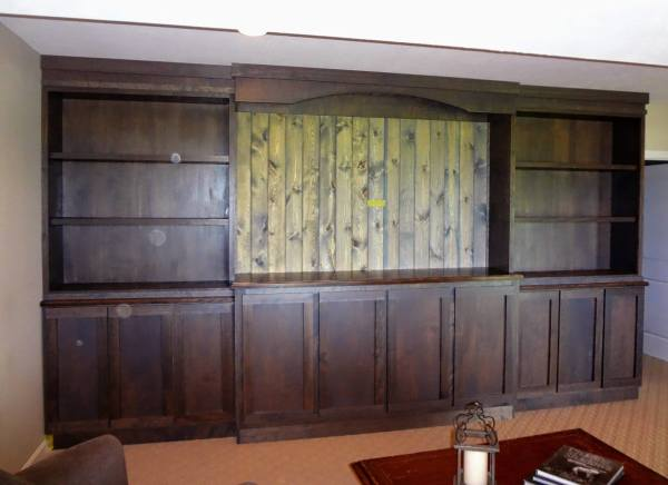 Custom Rustic Entertainment Center